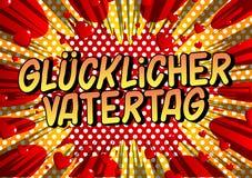O dia de pai de Glucklicher Vatertag no alem?o ilustração royalty free