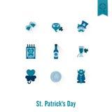 O dia de Patricks de Saint isolou o grupo do ícone Foto de Stock