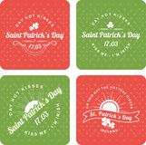 O dia de St Patrick caligráfico dos elementos do projeto Imagem de Stock Royalty Free