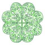 O dia de St Patrick do trevo do trevo do zentangle da garatuja Fotos de Stock