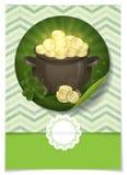 O dia de St Patrick. Potenciômetro de ouro. Foto de Stock