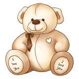 O dia de Valentim bonito de Saint do brinquedo de Teddy Bear dos desenhos animados Imagem de Stock