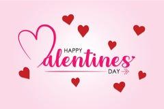 O dia de Valentim com fundo da cor ilustração do vetor