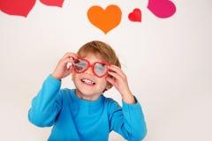 O dia de Valentim: Divertimento das crianças fotografia de stock royalty free