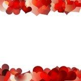 O dia de Valentim do fundo dos corações Imagens de Stock Royalty Free