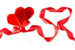 O dia de Valentim do símbolo: pirulitos na forma de Foto de Stock Royalty Free