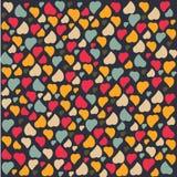 O dia de Valentim do teste padrão do fundo do coração do amor cumprimenta Fotografia de Stock