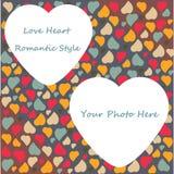 O dia de Valentim do teste padrão do fundo do coração do amor cumprimenta Imagem de Stock Royalty Free