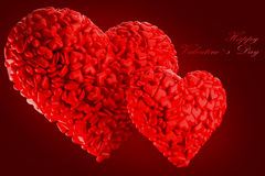O dia de Valentim dos corações Foto de Stock Royalty Free