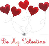 O dia de Valentim feliz! Fotografia de Stock Royalty Free