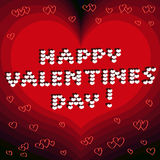 O dia de Valentim feliz Fotografia de Stock