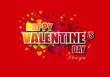 O dia de Valentim feliz imagem de stock