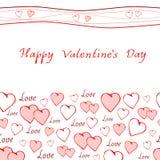 O dia de Valentim feliz do cartão romântico Imagens de Stock Royalty Free