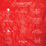 O dia de Valentim - grupo de crachás Imagens de Stock Royalty Free