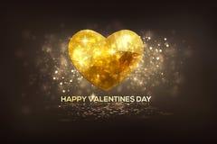 O dia de Valentim moderno brilhante dos corações do diamante Fotos de Stock Royalty Free