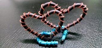 O dia de Valentim por símbolos fotografia de stock royalty free
