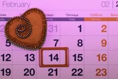 O dia de Valentim, produtos feitos a mão do feltro imagem de stock
