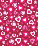 O dia de Valentim sem emenda, teste padrão Imagem de Stock Royalty Free