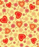 O dia de Valentim sem emenda, teste padrão Imagens de Stock Royalty Free