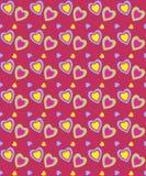 O dia de Valentim sem emenda, teste padrão Imagens de Stock