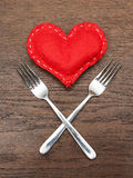 O dia de Valentim - sumário - jantar romântico imagem de stock