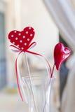 O dia de Valentim vermelho do St. dos corações Imagens de Stock Royalty Free