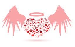 O dia do Angel Valentine ilustração stock