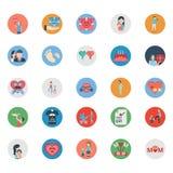 O dia do pai isolou o grupo dos ícones do vetor que pode facilmente ser editado ou alterado ilustração royalty free