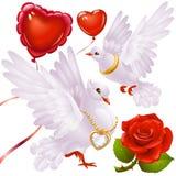 O dia do Valentim ajustou 3 Fotografia de Stock