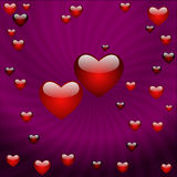 O dia do Valentim, vector o fundo abstrato Fotografia de Stock Royalty Free