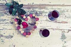 O dia do vinho e das rosas foto de stock