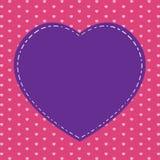 O dia e o coração cor-de-rosa de Valentim no fundo cor-de-rosa Coração cor-de-rosa grande no feriado Foto de Stock Royalty Free