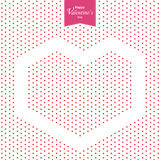 O dia e o coração vermelho de Valentim feliz no fundo branco Dia do Valentim Fotografia de Stock