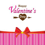 O dia e o presente de Valentim no fundo branco e cor-de-rosa O dia de Valentim do vetor no fundo colorido Fotografia de Stock