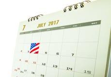 O dia nacional de América Foto de Stock Royalty Free