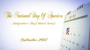 O dia nacional de América Imagens de Stock