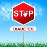 O diabetes da parada representa a parada da hipoglicemia e da insulina Imagens de Stock