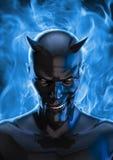 O diabo no preto Imagens de Stock