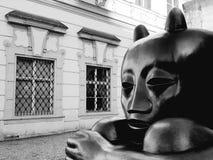 O diabo preto em Praga imagem de stock royalty free