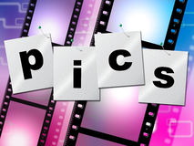 O diafilme do Pics indica fotos fotografia e imagem Foto de Stock Royalty Free