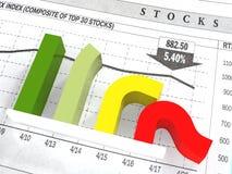O diagrama do declínio Imagens de Stock Royalty Free