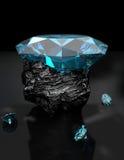 O diamante 3D ajustou 3 Imagens de Stock Royalty Free