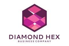 O diamante encanta o logotipo Fotos de Stock Royalty Free