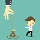 O dinheiro é armadilha ilustração royalty free