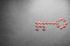 O dinheiro é a chave Fotografia de Stock Royalty Free