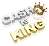 O dinheiro é rei Foto de Stock Royalty Free