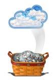 O dinheiro da nuvem Foto de Stock