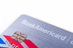 O dinheiro do Banco Americano recompensa o cartão de crédito imagens de stock