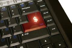O dinheiro entra Fotografia de Stock Royalty Free