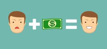 O dinheiro fá-lo sorrir Imagens de Stock Royalty Free
